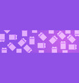 gift boxes on pink violet background horizontal vector image vector image