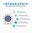 globe network arrow news worldwide infographics vector image vector image