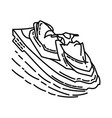 good jet ski icon doodle hand drawn or outline vector image vector image