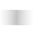 halftone convex distorted circle dots background vector image