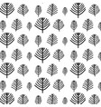 hand drawn tree pattern vector image
