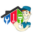 home repairman with tool vector image