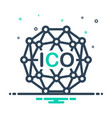 ico initial vector image