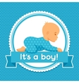 It is a boy Baby shower invitation vector image