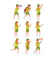 kids scouts childrens specific uniform camping vector image vector image