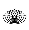 lotus plant symbol spa and wellness theme design vector image vector image
