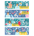 medical consultation doctors or specialists poster vector image vector image