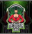 medusa game esport mascot logo design vector image