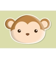 monkey animal cute little design vector image vector image
