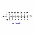 octane formula vector image