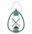 old lamp on white background vector image vector image