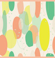 organic abstract modern yellow green orange vector image