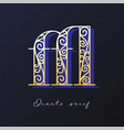 ornate serif typeface vector image vector image