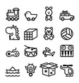 outline toy icon set vector image vector image