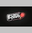 ping pong mascot modern professional sport vector image