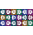 poker chips set white on color vector image vector image