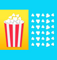popcorn round bucket box movie cinema icon in vector image