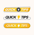 quick tips creative trendy banners vector image vector image