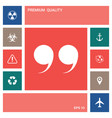 quote symbol icon elements for your design vector image vector image