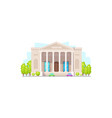 retro theater building with columns isolated vector image
