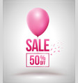 sale and balloon isolated vector image