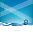 scotland ribbon flag on background vector image vector image