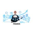 senior asian businessman financial trading vector image