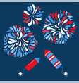 set isolated festive fireworks and rockets vector image vector image