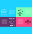 set of bright posters for international peace day vector image vector image