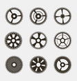 set of gears on white background vector image vector image