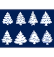 Set of new year pines vector image vector image