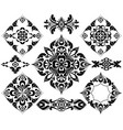 set of patterns for tattoo and other decorations vector image vector image