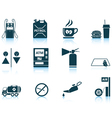 Set of Petrol station icons vector image vector image