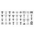 set winning icons vector image