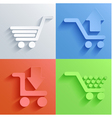 shopping icon set backgrounds vector image
