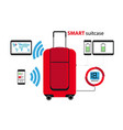 smart suitcase vector image vector image