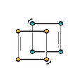 square shape molecule structure isolated line icon vector image