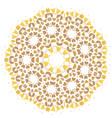 stylized flowers mandala vector image