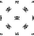 thailand temple pattern seamless black vector image vector image