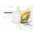 The left and the right brain functions vector image