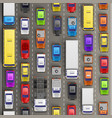 traffic jam on the road vector image