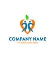 unique childcare logo vector image vector image
