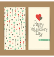 valentine card with hearts and arrows vector image vector image