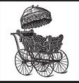 vintage engraving a pram vector image