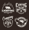 vintage monochrome summer adventure badges vector image vector image