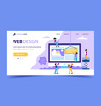 web design landing page - with small vector image vector image