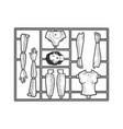 woman toy construction set sketch vector image vector image