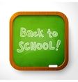 wooden school board with green background vector image vector image