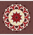 Red and brown color mandala ornamentDecorative vector image