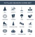 16 season icons vector image vector image